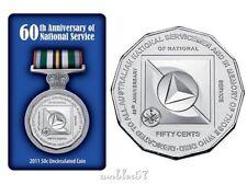 "** 2011 Australian ""National Service"" 50cent carded UNC**"