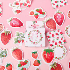 1box strawberry Paper Stickers Diary Decor Diy Scrapbooking Stationery StickerFB