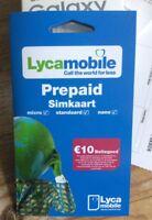 Einsatzbereit: Lycamobile Prepaid 3in1 Sim Karte Neu & unbenutzt ohne Ausweis