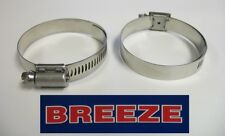 2 Breeze Hose Liner Clamps 9432 All Stainless Steel 1 9/16 - 2 1/2 Silicone 64mm