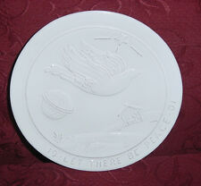"Frankoma Joniece Frank Christmas Plate 1991 Let There Be Peace 8-1/2"" Dia Ec"