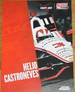 2013 Helio Castroneves Hitachi Chevy Dallara Indy Car Hero Card