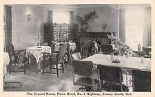 Stoney Creek Ontario Canada Pines Hotel Crystal Room Antique Postcard K20759