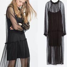 Zara Polyester Long Sleeve Formal Dresses for Women