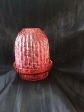 Victorian Cranberry Night Light and stand