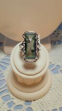 Emerald Ring Sterling Silver New Handcrafted Fashion Mystic Topaz