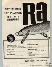 1966 PAPER AD 2 PG Rapala Normark Nordic Fishing Lure Countdown Bass Salmon