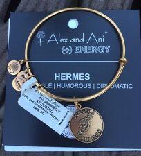 "ALEX AND ANI ""GODS AND GODDESSES HERMES"" CHARM BRACELET IN RAFAELIAN GOLD NWT"