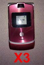 LOT OF 3 NEW Motorola RAZR Mock Dummy Display Toy Cell Phone