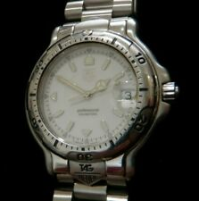 TAG Heuer 6000 Men's Stainless Watch WH1111-K1 w/Aftermarket Steel Bracelet XLNT