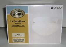 HAMPTON BAY LIGHT FIXTURE WHITE SHADE FLUSH MOUNTED NEW IN BOX