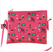 Women Hot Pink PU Leather Messenger Crossbody Shoulder Bag Satchel Handbag Tote