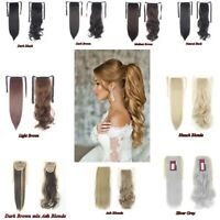 Synthetic Drawstring Ponytail Extensions Piece Tie Up Ponytail Clip in On Hair
