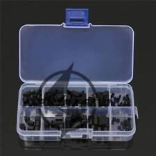 120PCS M2 Nylon Hex Spacers Screw Plastic Accessory Nut Assortment Kit Stand-off