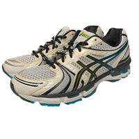Asics Gel Kayano 18 Men's Size 10.5 Running Shoes Lightning White T200N EUC
