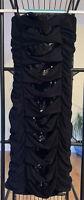 Deb Black Sequin Cocktail Dress SZ S