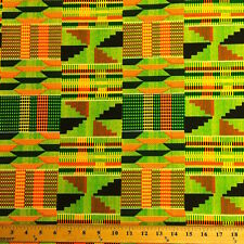 Kente African Print Fabric 100% Cotton 44'' wide sold by the yard (19006-1)