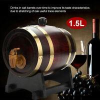 1.5L Vintage Oak Barrel Timber Wine Barrel For Beer Whiskey Rum Port W/Stand