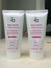 2 x ZA True White Power Block UV SPF40 PA+++  50  g