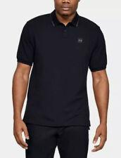 Under Armour 1341967 001 Mens Size XL Black Ace Polo Golf Shirt