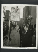ANTHONY QUINN + ROSS HUNTER ON LOCATION IN SAN FRANCISCO CANDID - 1960 VINTAGE