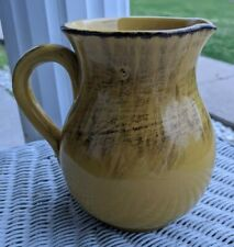 Pitcher Decorative Water Italy GoldenYellowBrown Small 6 1/2 Inch Height Apr21