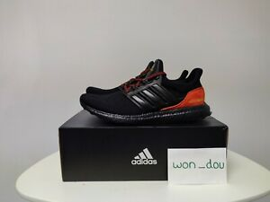 Men's Adidas Ultraboost DNA Black Red Running Shoes FW4899