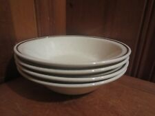 """4 Carlow Spring Floral Pattern Aran Stone 7"""" Cereal Soup Bowls Ireland Stoneware"""