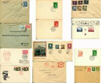 12 Czechoslovakia Czech Republic Postage Stamps Cover Cancellation Collection