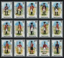 St. Lucia 1985 - Mi-Nr. 748-762 I ** - MNH - Uniformen / Uniforms (II)