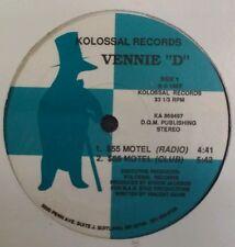 "Vennie ""D"" Vinyl $55 Hotel Rare VHTF Sealed Vtg 1987 Kolossal Hip Hop Rap MD"
