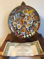 Franklin Mint Bill Bell Porcelain Cat Plates Gold Medal Flour Signed Numbered