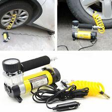 Car Electric Air Compressor Heavy Duty 150 PSI Tire Inflator Pump + Battery Clip
