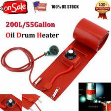 200L/55Gallon Silicon Metal Oil Band Drum Heater 1000W 110V Us Plug New