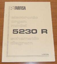 FARFISA 5230 R Original Schematic Diagrams Service Manual - Balmoral / Jaqueline