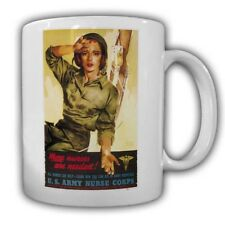 US Army Nurse Corps more nusses are needed TAZZA kaffebecher job militare #22766