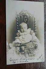BABY GORDON RICHARDSON 1905 POSTCARD