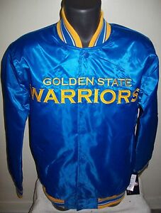 GOLDEN STATE WARRIORS STARTER Snap Down Jacket Sping/Summer S M, L, XL, XXL BLUE