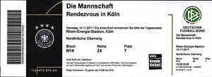 Ticket 14.11.2017 Deutschland - Frankreich, Rendezvous in Köln