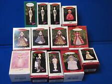 Lot Hallmark Collector Series Ornament Barbie Holiday Wedding Springtime Debut