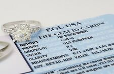 1.32 ct Vintage Platinum Old European Diamond Engagement Ring EGL-US Rtl $15,140