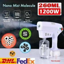 1200W Portable Nano Spray Gun Anion Nano Steam Disinfect Fogger Sprayer 260ML