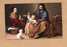 Art Card 1900's Misch and Co 1096 the saintly Family by Murillo Madrid BR2