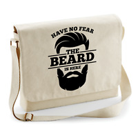 Have no FEAR the BEARD is here Bart Barber Spaß Fun Schultertasche Messenger Bag