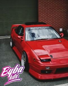 Front Wings + 55 & Rear Overfenders Type 3 +55mm to fit a Nissan 200sx S13