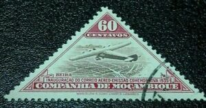 Mozambique:1935 Airmail - Airplanes 60C. Rare & Collectible Stamp.