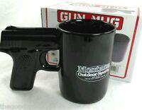 PISTOL Grip Coffee Mug 16 oz NEW IN BOX Gun Montana Outdoor Sports Black