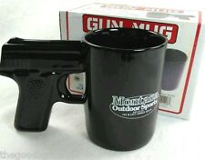 PISTOL Grip Coffee Mug 16 oz NEW IN BOX Gun Montana Outdoor Sports Black