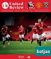 MANCHESTER UNITED -Scored 1:0 v WEST  HAM FA CUP 5TH ROUND PROGRAMME 09/02/2021