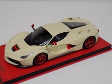 1/18 MR Collection Ferrari LaFerrari Cream and Red on Red Leather Base